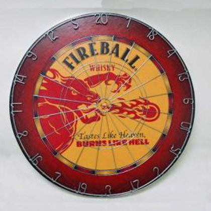 Fireball Whiskey Dartboard