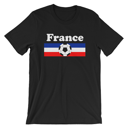 World Cup Soccer France Black Tshirt