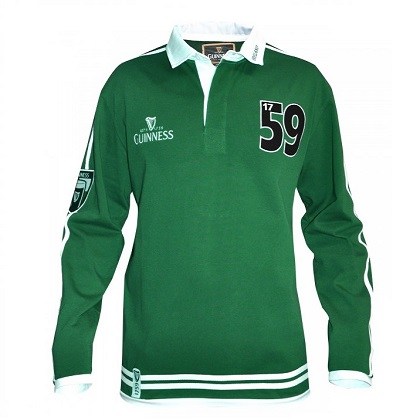Guinness Classic Racer Long Sleeve Rugby Shirt