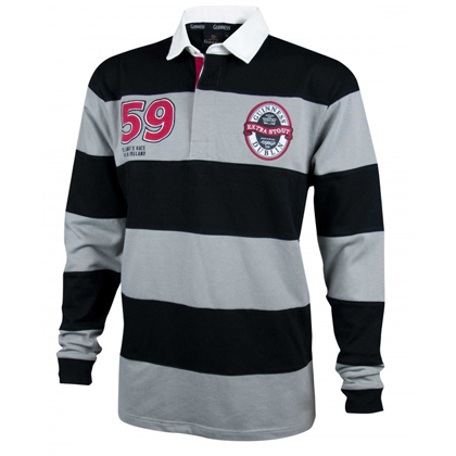 Guinness Grey and Black Striped Rugby Jersey