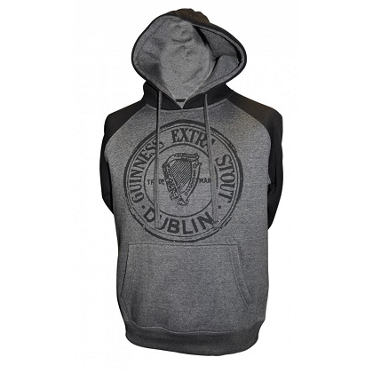 Guinness Grey and Black Hoodie