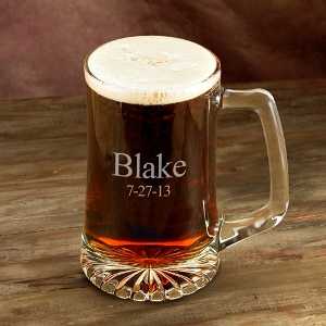 Personalized 25 Ounce Custom Beer Mug