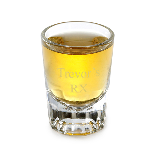 Personalized 2 Ounce Custom Shot Glass
