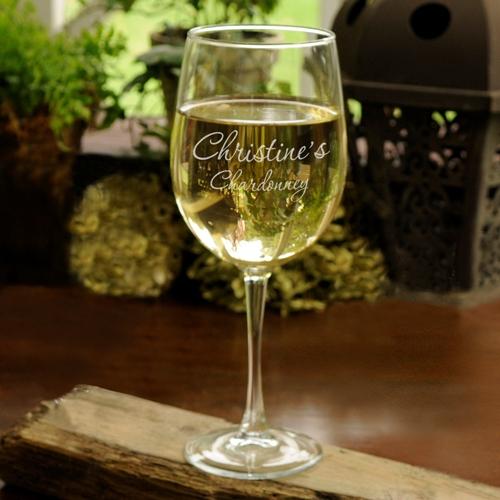 Personalized Connoisseur Custom White Wine Glass