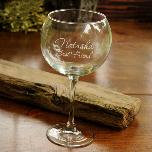 Personalized Connoisuer Custom Red Wine Glass