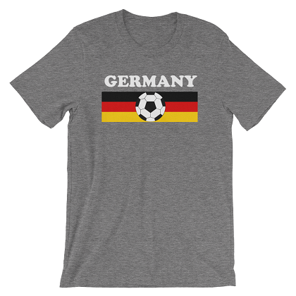 World Cup Soccer Germany Grey Tshirt