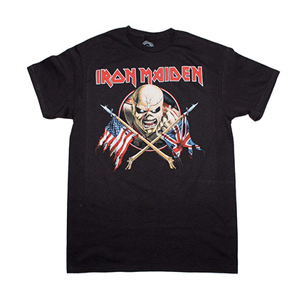 Iron Maiden Crossed Flags T-Shirt