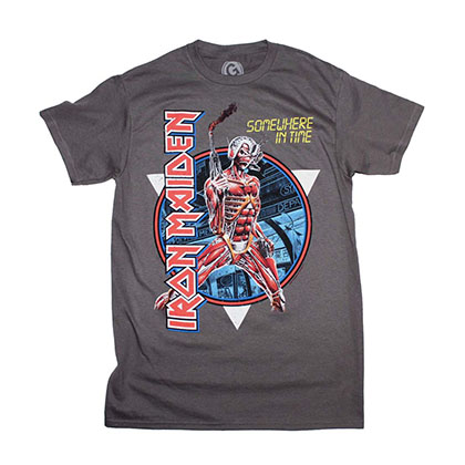 Iron Maiden Somewhere in Time Vintage Circle T-Shirt