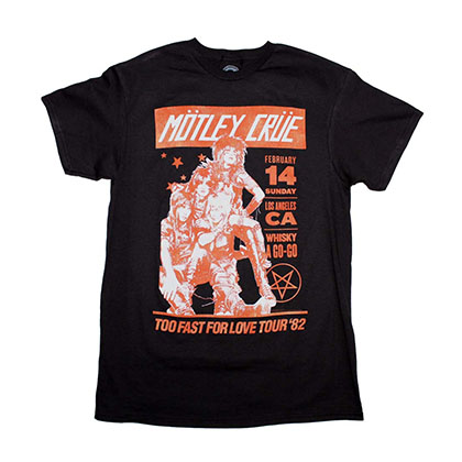 Motley Crue Vintage-Inspired Whiskey A Go Go T-Shirt