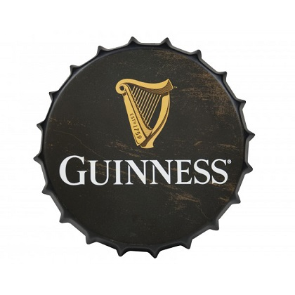 Guinness Harp Bottle Cap Metal Sign