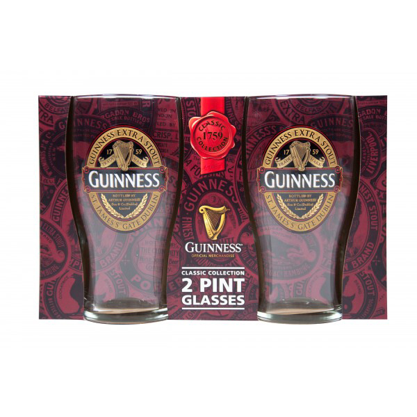 Guinness Classic Collection 2 Pack Pint Glasses