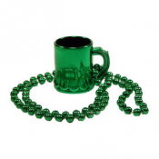 St. Patrick's Day Green Mug Necklace