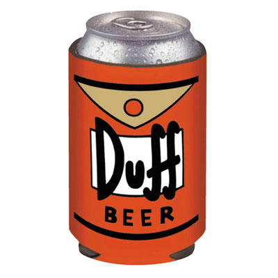 The Simpsons Duff Beer Koozie