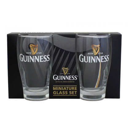Guinness Mini Livery Pint Glass 2 Pack