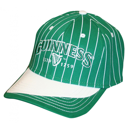 Guinness Green and White Pinstriped Hat