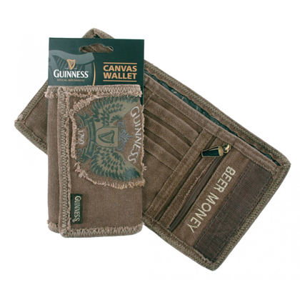 Guinness Winged Logo Canvas Wallet