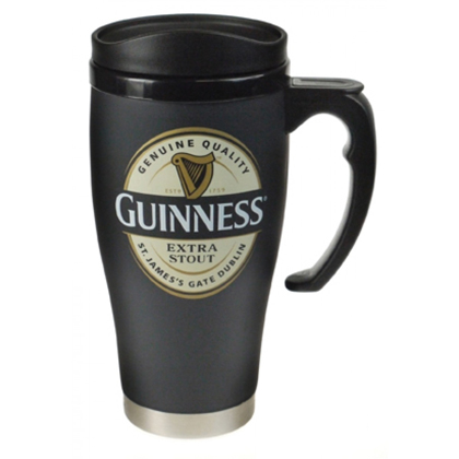 Guinness Label Handled Travel Mug