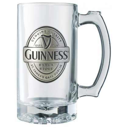 Guinness Label Tankard Pewter Logo Mug