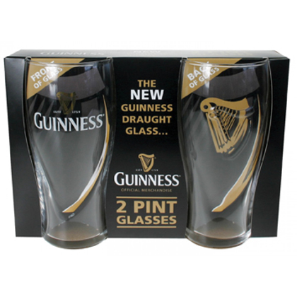 Guinness Embossed Gravity Glasses 2 Pack
