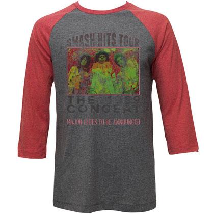 Jimi Hendrix Old Poster Raglan Sleeve T-Shirt