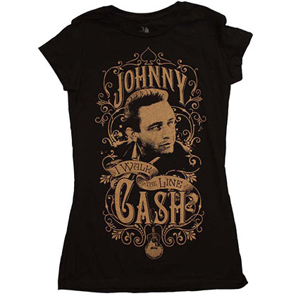 Johnny Cash Walk the Line Junior's T-Shirt