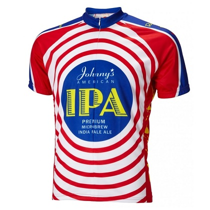 Moab Brewery Johnnys IPA Red White and Blue Cycling Jersey
