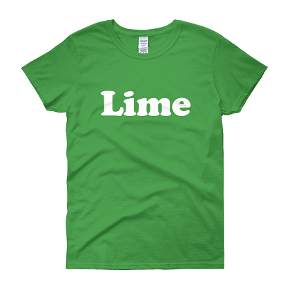 Lime His and Hers Couples Costume Tshirt