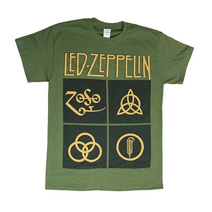 Led Zeppelin Black Box Symbols T-Shirt