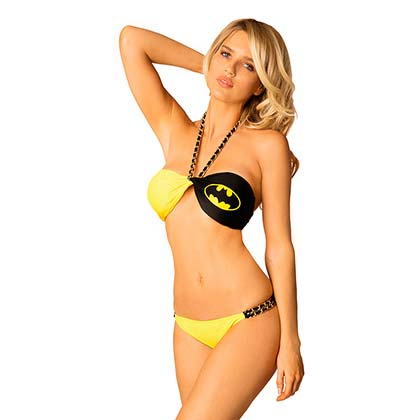 Batman Comic Twist Bandeau Bikini
