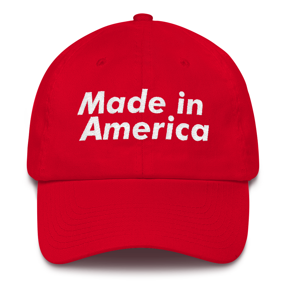 Made in America Red Dad Hat