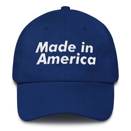 Made in America Blue Dad Hat