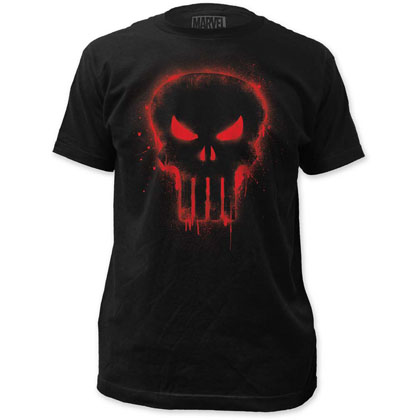 Marvel Comics Punisher Red Logo T-Shirt