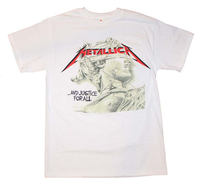 Metallica Justice Chrome Statue T-Shirt