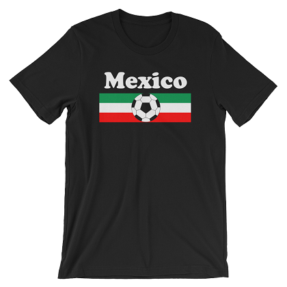 World Cup Soccer Mexico Black Tshirt