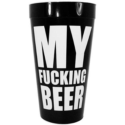 My F*cking Beer Black Plastic 16oz Cup
