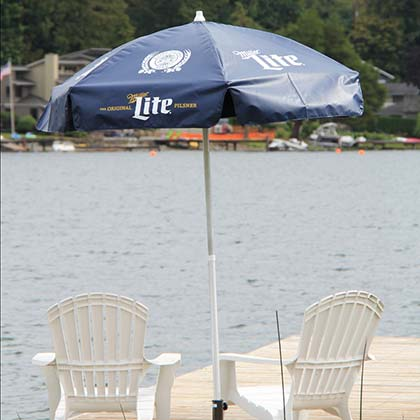 Miller Lite 6 Foot Patio Umbrella