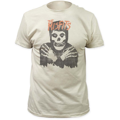 Misfits Classic Skull Distressed Print T-Shirt