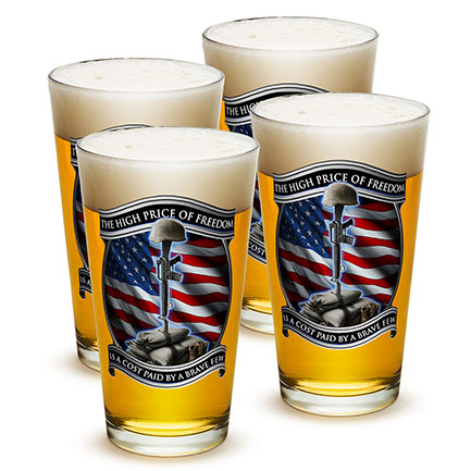 High Price Of Freedom Patriotic Beer Pints