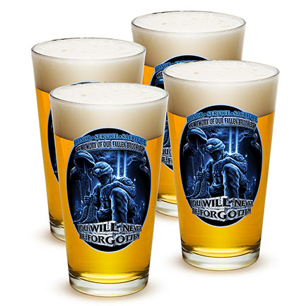 You Will Never Be Forgotten Fallen Brothers Pints Four Pack