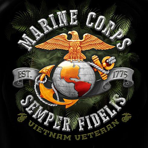 United States Marine Corps Vietnam Semper Fidelis Tee Shirt