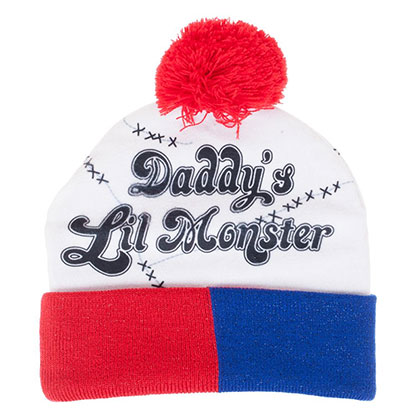 Suicide Squad Harley Quinn Daddy's Lil Monster Winter Pom Pom Beanie