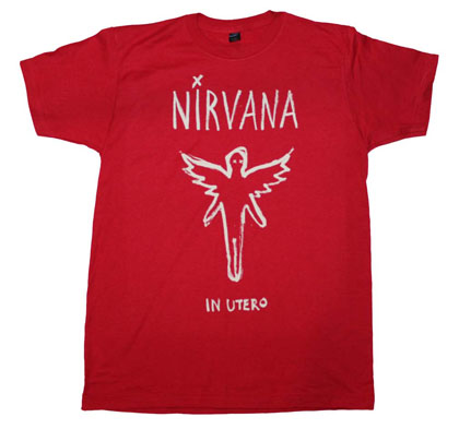 Nirvana Chalk Outline In Utero T-Shirt