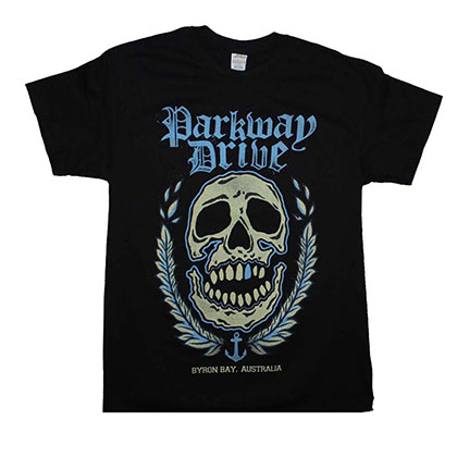 Parkway Drive Byron Bay Skull T-Shirt