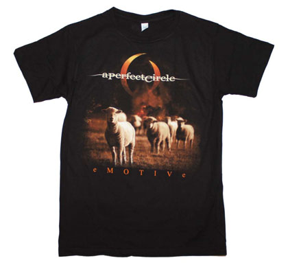 A Perfect Circle Black Slim Fit Emotive Tee Shirt