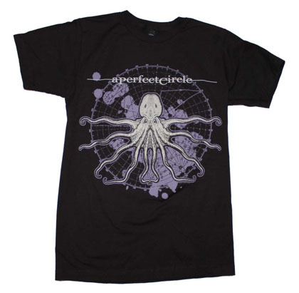 A Perfect Circle Slim Fit Black Octo Diagram T-Shirt