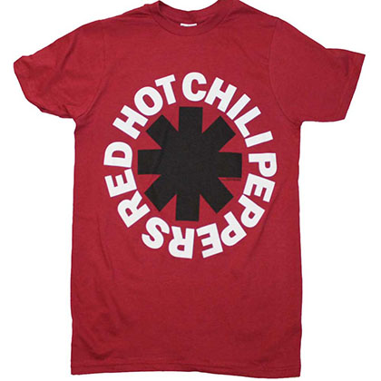 Red Hot Chili Peppers Black Asterisk Red T-Shirt