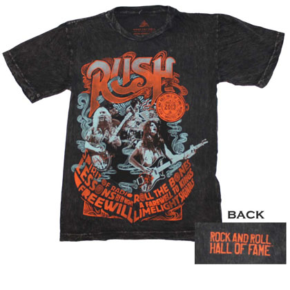 Rock and Roll Hall of Fame Inductees RUSH T-Shirt