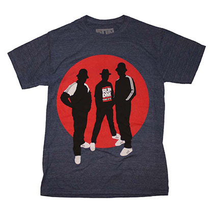 Run DMC Silhouette Circle Tri-Blend T-Shirt