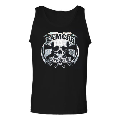 Sons Of Anarchy SAMCRO Supporter Black Graphic Mens Tank Top