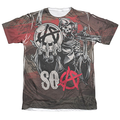 Sons Of Anarchy Reaper Ball Sublimation T-Shirt